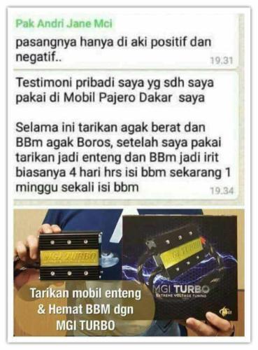 testimoni mgi turbo mobil 1