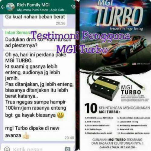 testimoni mgi turbo mobil 2