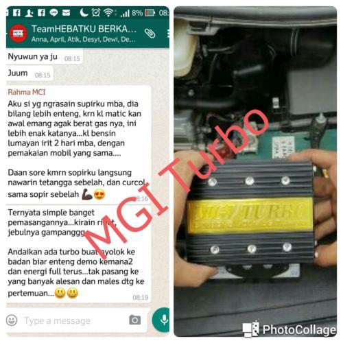 testimoni mgi turbo mobil 33